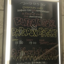 a flood of circle 「BAFFALO SOUL × PARADOX PARADE」 新宿LOFT 2019.9.5