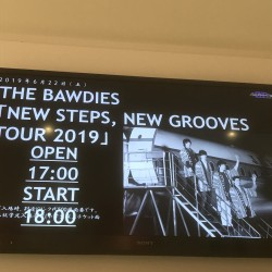 THE BAWDIES 「NEW STEPS, NEW GROOVES TOUR 2019」 Zepp DiverCity 2019.6.22