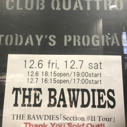 THE BAWDIES 「Section #11 Tour」 渋谷CLUB QUATTRO 2019.12.7