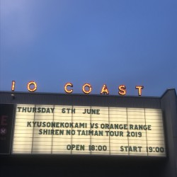 キュウソネコカミ 試練のTAIMAN TOUR 2019 TAIMAN:ORANGE RANGE 新木場STUDIO COAST 2019.6.6