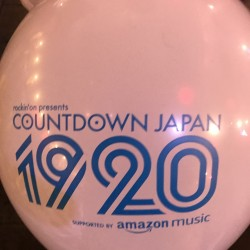 COUNTDOWN JAPAN 19/20 day4 幕張メッセ 2019.12.31