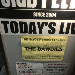 THE BAWDIES 「Section #11 Tour」 高崎club FLEEZ 2020.2.2