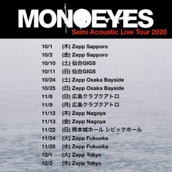 MONOEYES Semi Acoustic Live Tour 2020  Zepp Tokyo 2020.12.2